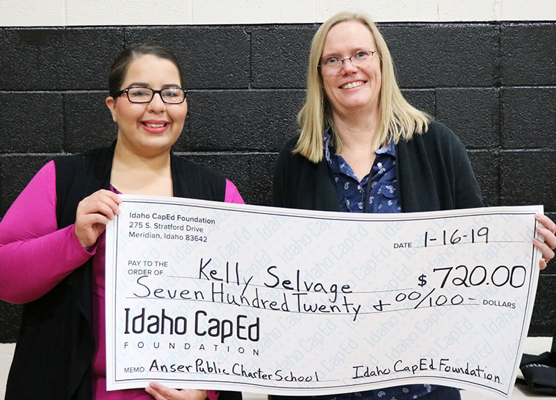 Kelly Selvage - Idaho CapEd Foundation Teacher Grant Winner